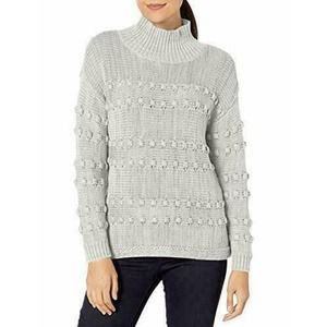NIC + ZOE Adore A Ball Knit Sweater Gray NWT